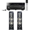 Yamaha - RX-A840BL 7.2-Channel Receiver Plus A Pair of JBL L890 4-Way Floor standing Speakers - Black