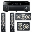 Yamaha - RX-A1040BL 7.2-Channel AVENTAGE Receiver Plus A JBL Studio 5.0 Home Theater Speaker System - Black
