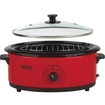 Nesco - 6 Qt. Roaster with Porcelain Cookwell - Black, Red