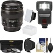 Canon - EF 85mm f/1.8 USM Lens with 3 Filters + Hood + Flash + 2 Diffusers + Kit - Black
