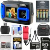 Coleman - Dual Screen Shock+Waterproof Digital Camera w/ 32GB Card+Batteries+Charger+Case+Float Strap+Kit - Blue