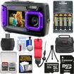 Coleman - Dual Screen Shock+Waterproof Digital Camera+32GB Card+Batteries+Charger+Case+Float Strap+Kit - Purple