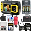 Coleman - Dual Screen Shock+Waterproof Digital Camera+32GB Card+Batteries+Charger+Case+Float Strap+Kit - Yellow