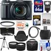 Canon - PowerShot G1X Mark II Wi-Fi Digital Camera w/ 64GB Card+Case+Flash+Tripod+Filters+Tele/Wide Lens Kit - Black
