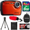 Coleman - Xtreme2 C12WP Shock+Waterproof Digital Camera with HD Video with 8GB Card+Case+Tripod+Accessory Kit - Orange