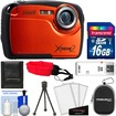Coleman - Xtreme2 C12WP Shock+Waterproof Digital Camera with HD Video with 16GB Card+Case+Tripod+Accessory Kit - Orange
