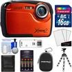 Coleman - Xtreme2 C12WP Shock+Waterproof Camera+HD Video Orange+16GB Card+Case+Batteries+Chrgr+ Tripod+Acc - Orange