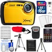 Coleman - Xtreme2 C12WP Shock+Waterproof Camera+HD Video+16GB Card+Case+Batteries+Charger+2 Tripods+Acc Kit - Yellow