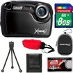 Coleman - Xtreme2 C12WP Shock+Waterproof Digital Camera with HD Video with 8GB Card+Case+Tripod+Accessory Kit - Black