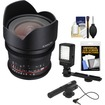 Rokinon - 10 T/3.1 Cine Wide Angle Lens for Video DSLR Sony Alpha E-Mount Cameras+2 Year Ext. Warranty - Black Deal
