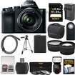 Sony - Alpha A7 Digital Camera+28-70mm FE OSS Lens w/HVL-F60M Flash+64GB Card+Case+Batt.+Tripod+2 Lenses - Black
