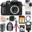 Panasonic - Lumix DMC-GH4 4K Micro Four Thirds Digital Camera Body+64GB Card+Batt.+Backpack Case+Tripod+Flash - Black