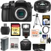 Panasonic - Lumix DMC-GH4 4K Micro Four Thirds Camera Body+20mm f/1.7 II Lens+64GB Card+Battery+Case+Tripod - Black