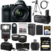 Sony - Alpha A7 Digital Camera+28-70mm FE OSS Lens+VG-C1EM Grip+64GB Card+Case+Batt.+Tripod+Flash+2 Lenses - Black