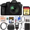 Panasonic - Lumix DMC-FZ1000 4K QFHD Wi-Fi Digital Camera with 64GB Card+Case+Flash+Battery+Tripod+Filter+Kit - Black