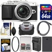 Olympus - PEN E-PL7 Micro 4/3 Digital Camera+14-42mm II R Lens with 64GB Card+Case+Battery+Charger+Filter+Kit - Silver