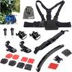 EEEKit - 10in1 Kit for Gopro Hero4 Hero 3+ 3 2 1 Camcorder, Chest Helmet Strap Mount