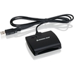 IOGEAR - USB Smart Card Access Reader - Black