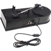 Image - Mini USB Turntable Vinyl Converts Records to MP3 CD Tape Converter 33/45 Speed for Windows Mac - Black