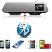 """Image - HD 1080P 2.7"""" LCD Car Camera Rearview Mirror Dash Vehicle DVR Recorder with Bluetooth - Black"""