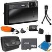 Sony - Bundle DSC-TX30/B Digital Camera 16GB Bundle - E2SNDSCTX30B - Black