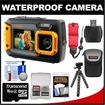 Coleman - Duo 2V9WP Dual Screen Shock+Waterproof Digital Camera w/ 16GB Card+Case+Float Strap+Flex Tripod+Kit - Orange