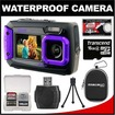 Coleman - Duo 2V9WP Dual Screen Shock + Waterproof Digital Camera with 16GB Card + Case + Kit - Purple