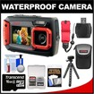 Coleman - Duo 2V9WP Dual Screen Shock+Waterproof Digital Camera w/ 16GB Card+Case+Float Strap+Flex Tripod+Kit - Red