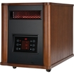 Holmes - 1500 Watt Infrared Console Heater with Wood Housing - Tan