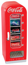 Coca-Cola - 0.6 Cu. Ft. Retro Vending Refrigerator - Red