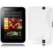 Insten - S Shape Soft TPU Rubber Candy Skin Case Cover For Amazon Kindle Fire HD 7 inch (2013 Version) - White