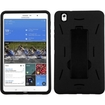 Insten - Symbiosis Hybrid Stand Silicone/PC Case For Samsung Galaxy Tab Pro 8.4 (LTE)/8.4 3G/8.4 Wifi - Black