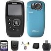 Kodak - PlaySport Zx5 HD Waterproof Pocket Video Camera - Aqua 2nd Generation 8GB Accessory Saver Bundle - Black