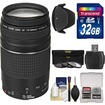 Canon - EF 75-300mm f/4-5.6 III Zoom Lens with 3 UV/CPL/ND8 Filters + Hood + 32GB SD Card + Kit - Black
