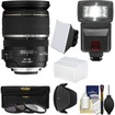 Canon - EF-S 17-55mm f/2.8 IS USM Zoom Lens with Flash + 3 Filters + Diffusers + Hood + Kit - Black