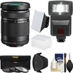 Olympus - 40-150mm f/4.0-5.6 R Micro ED Digital Zoom Lens with 3 Filters + Hood + Flash + 2 Diffusers + Kit - Black