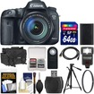 Canon - EOS 7D Mark II GPS Camera+EF-S 18-135 IS STM Lens+64GB Card+Case+Flash+Battery+Tripod+Filter+Remote - Black