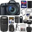 Canon - EOS 7D Mark II GPS Camera+EF-S 18-135 IS STM Lens+75-300 Lens+64GB Card+Backpack+Batt/Charger - Black