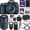 Canon - EOS 7D Mark II GPS Camera+EF-S 18-135 IS STM Lens+55-250 IS STM Lens+64GB Card+Case+Flash+Battery - Black