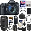 Canon - EOS 7D Mark II GPS Camera+EF-S 18-135 IS STM Lens+70-300 IS USM Lens+64GB+Backpack+Batt/Charger - Black