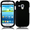 Insten - Rubberized Hard Snap-in Case Cover For Samsung Galaxy S3 Mini GT-I8190 - Black