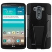 Insten - Dual Layer Hybrid Stand PC/Silicone Case Cover For LG G3 - Black