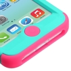 Insten - Tuff Dual Layer Hybrid Rubberized Hard PC/Silicone Case Cover For Apple iPhone 5C - Turquoise