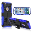 eForCity - Advanced Armor Dual Layer Hybrid Stand PC/Silicone Case Cover For Apple iPhone 6 - Black/Blue