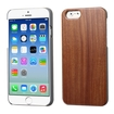 Insten - Walnut TimberWood Rubberized Hard Snap-in Case Cover For Apple iPhone 6 - Brown