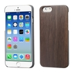 Insten - Walnut TimberWood Rubberized Hard Snap-in Case Cover For Apple iPhone 6 - Dark Brown