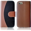 Insten - Two Tone Folio Flip Leather Case Cover For Apple iPhone 6 Plus - Brown/Black
