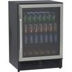 Avanti - Beverage Cooler with Glass Door - Black
