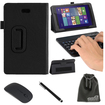 EEEKit - Bundle 2-in-1 Office Kit for Dell Venue 8 Pro Bluetooth Keyboard Stand Case+ Bluetooth Mouse