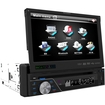 Farenheit - TID-893B In Dash Source Unit DVD Player Single DIN with 7 - Inch Touchscreen Flip Out Monitor - Multi